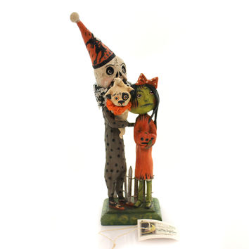 Halloween EDGAR, ELLEN AND LITTLE POE Paper Pulp Spooky Skeleton Poetry Hh4874