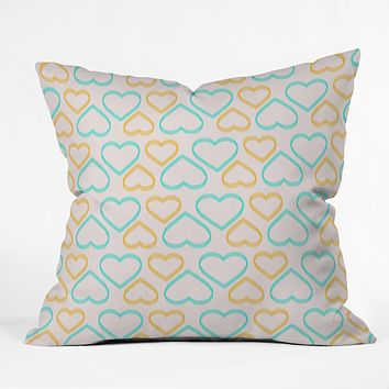 Allyson Johnson Cute Hearts Throw Pillow