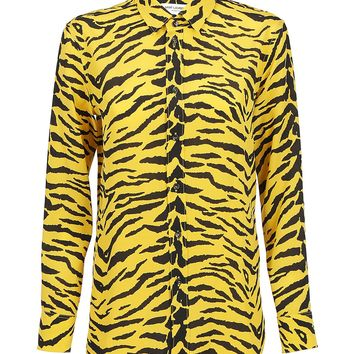 Jaune D'or Silk Shirt by Saint Laurent