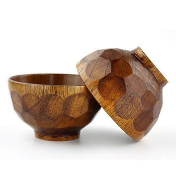 Natural Jujube Wooden Bowl 2pcs