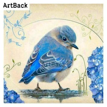 5D Diamond Painting Little Blue Bird Kit