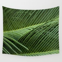 Palm leaves Wall Tapestry by VanessaGF