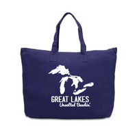 Great Lakes Unsalted Beachin' Tote Bag