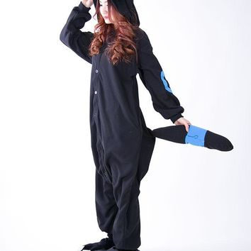 Kigurumi Cartoon  Pikachu Pajamas Black Umbreon Onesuit Adult Pyjama Cosplay Costume SleepwearKawaii Pokemon go  AT_89_9