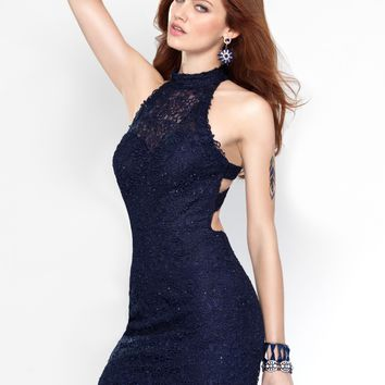 Alyce 4440 Lace Mini Dress | RissyRoos.com