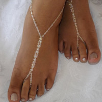 Handmade Barefoot Sandals Foot Jewelry by SubtleExpressions