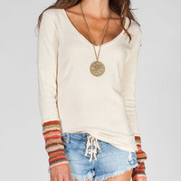 Others Follow Win It Womens Thermal Shirt Beige  In Sizes