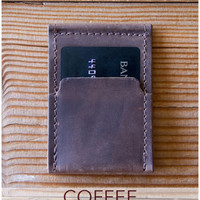 Wezel Wallet/Phone Stand - Coffee