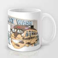 Cat Wash Mug by Eric Fan