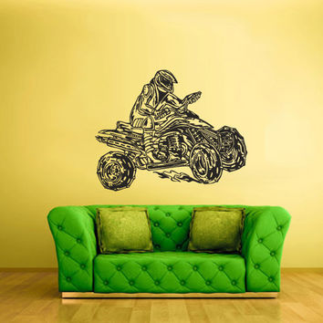 Wall Vinyl Sticker Decals Decor Art Bedroom Design Quad Sport Dirty Moto Trick Motorcycle ATV Gift Boy (z2240)