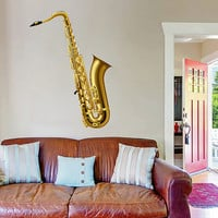 kcik525 Full Color Wall decal saxophone music interument living room bedroom