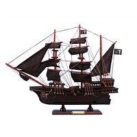 Wooden Blackbeard's Queen Anne's Revenge Model Pirate Ship 15""