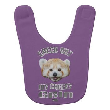 Cheeky Grin Baby Design by Kat Worth Bib