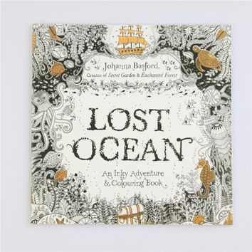 Lost Ocean Coloring Book Antistress For Children Adult Relieve Stress Painting Drawing Secret Garden Colouring Books 24pages