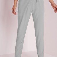 Missguided - Wrap Detail Tailored Trousers Grey