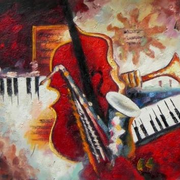 Instruments Of Music I Art Oil Painting