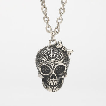 Skull Stash Pendant Necklace