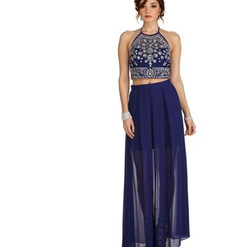 Layla- Blue Arabian Night Dress
