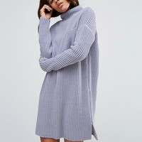 ASOS TALL Swing Dress In Rib Knit With Top Pocket at asos.com