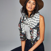 Womens Floral Border Square Scarf | Womens New Arrivals | Abercrombie.com