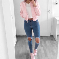 Bianca High waist Ripped jeans