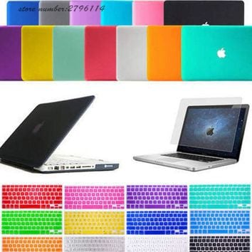 Laptop Case For Macbook Air 13 11 case Pro 13 15 Retina Pro Full Protective cover Crystal/Matte Hard Cover Case MAC Shell