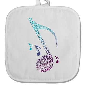 Music Note Typography White Fabric Pot Holder Hot Pad