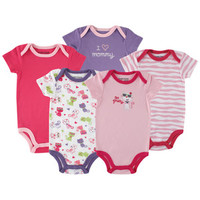 Luvable Friends 5-Pack Hanging Bodysuit, Cat | Affordable Infant Clothing
