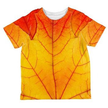 Halloween Autumn Fall Leaf Costume All Over Toddler T Shirt