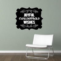 Wall Decal Chalkboard Art Inspired Joyful Christmas Wishes 22489