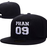 YUGY Phan 09 Dan Howell Phil Lester Adjustable Embroidery Snapback Hat Cap