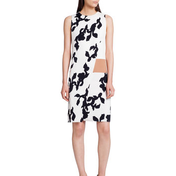 Narciso Rodriguez Printed Graphic Floral Dress - White/black