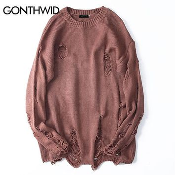 Mens Distressed Sweater