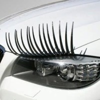 CarLashes™ Headlight Lashes Black Straight