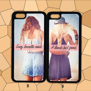 iPhone 6 case,iPhone 6 Plus Case,iphone 6 cover,iPhone 5/5S/5C/4/4S,Samsung/HTC/Sony/LG Case,every brunette need a blonde Best Friend Case
