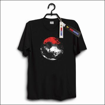 USAprint Classic Men T Shirts Death Star Pokeball Tshirt Star Wars Funny Pokemon Top Tees Soft Top Cotton Boy Clothing Oversize