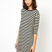 BZR Tulle Sweater Dress in Cut About Stripe