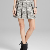 Alice + Olivia Skirt - Davis Pleated Tweed