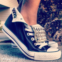 Awsome Studded Converse Shoes