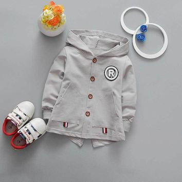 New spring autumn casual Baby Boys girls Cotton Cartoon puppy Children's Trench Cardigan Outwear Hoodie Coats Y2071