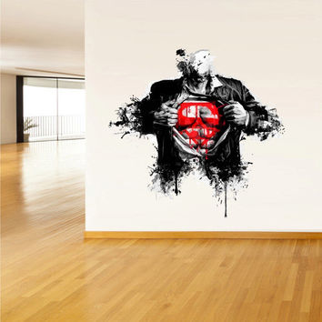 best superman wall decals products on wanelo
