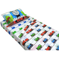 Thomas Train Ride Rails Twin Bed Sheet Set