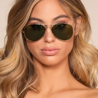 Cruise Aviator Sunglasses - Green