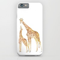 Mother and Baby Giraffes iPhone & iPod Case by Susan Windsor