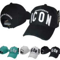 The New Trendy ICON Embroidery Cotton Baseball Cap Hats