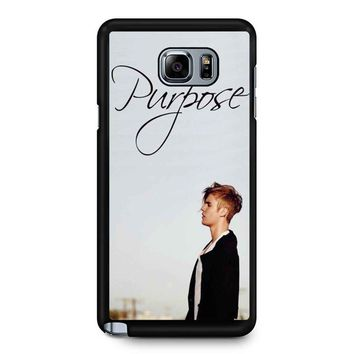 Purpose Justin Bieber Samsung Galaxy Note 5 Case
