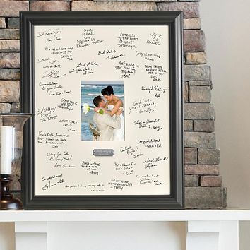 Personalized Wedding Signature Frame Free Engraving