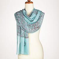 Aqua Prayer Shawl | Jewelry and Accessories | World Market