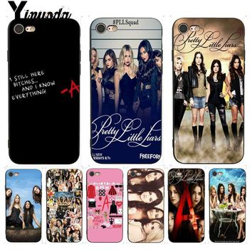 Yinuoda For iphone 7 6 X Case Pretty Little Liars Lucy Hale Print Phone Case for iPhone X  8 7 6 6S Plus X 5 5S SE XR XS XSMAX