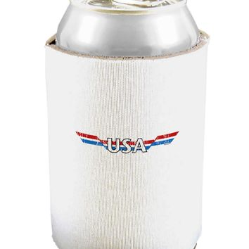 USA Stripes Vintage Can and Bottle Insulator Cooler